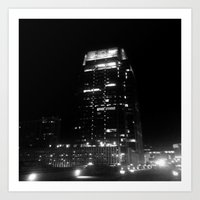Nashville Nights - Downtown building Art Print