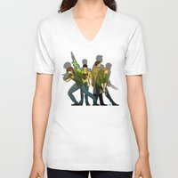 supernatural V-neck T-shirts featuring Supernatural by Justyna Rerak
