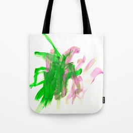 First paint abstract by Keira Tote Bag