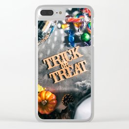 Halloween: Trick Or Treat For Autumn Fun Clear iPhone Case