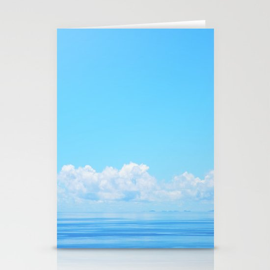 Pacific blues Stationery Cards