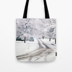 Winter on Beechwood Lane Tote Bag