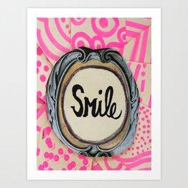 3 second smile Art Print