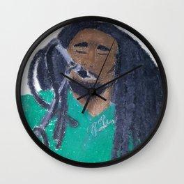 BobMarleyoilpastel Wall Clock