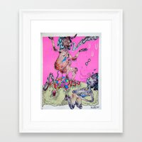 gemini Framed Art Prints featuring gemini by Kira Leigh