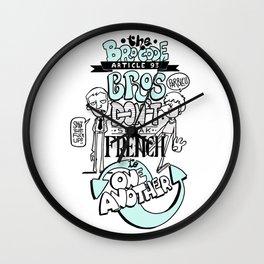 The Bro Code #93 Wall Clock