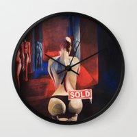 musa Wall Clocks featuring La Musa / The Muse by GaeTano & Valentina