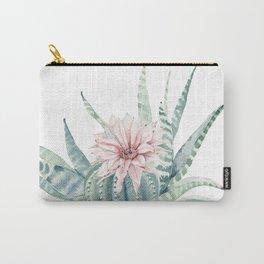 Petite Cactus Echeveria Carry-All Pouch