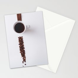 COFFEE - BEANS - CUP - PHOTOGRAPHY Stationery Cards