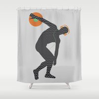 nicki Shower Curtains featuring Vinylbolus by Sitchko Igor