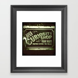 Night Curiosity Framed Art Print