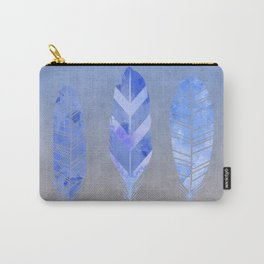 Blue Feather watercolor art Carry-All Pouch