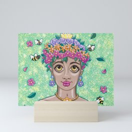 Flower Girl Mini Art Print