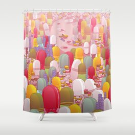 Society of Pills Shower Curtain