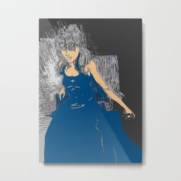 On a Throne of Lies Metal Print