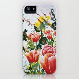 Edge of a tulip garden iPhone Case