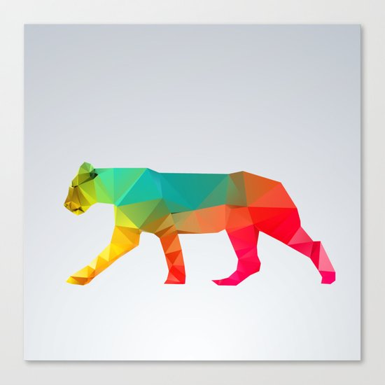 Glass Animal Series - Lioness Canvas Print