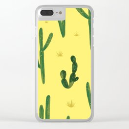 Desert Vibes Yellow Clear iPhone Case