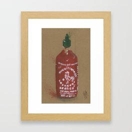 Sriracha Sauce - These are the things I use to define myself Framed Art Print