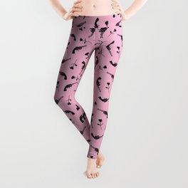 Roses & Revolvers // Pink Leggings