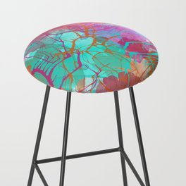 color splatter watercolor digital print Bar Stool