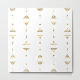 Modern geometric gold triangles Metal Print