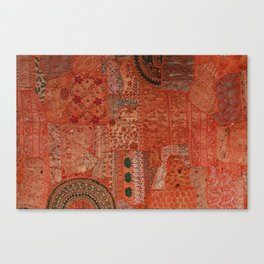 Red Quilted Lace and Shit Canvas Print