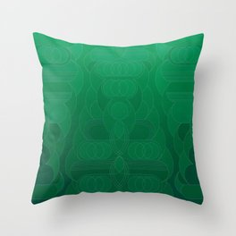 Round and About Emerald Throw Pillow