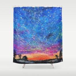 Needle Felt Colorful Sky Shower Curtain