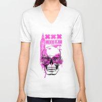 uk V-neck T-shirts featuring UK Hooligan by Tshirt-Factory