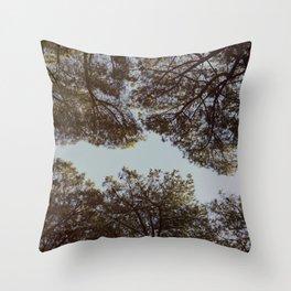 Stone pine trees Throw Pillow