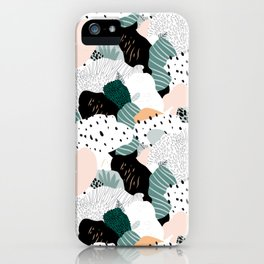Leafy camouflage - pastel iPhone Case