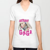 artrave V-neck T-shirts featuring ArtRave by Marcelo BM