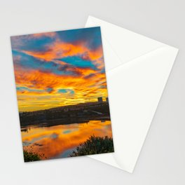 Morning Colors in the Back Bay Stationery Cards