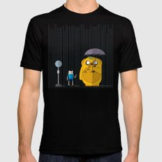 adventure time totoro X-LARGE Mens Fitted Tee Black