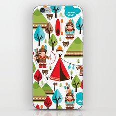 Cute indian haunting illustration pattern iPhone & iPod Skin