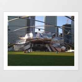 Chicago Lawned Art Print