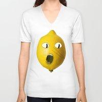 lemongrab V-neck T-shirts featuring Lemongrab! by Al's Visions