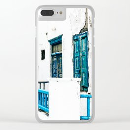 Out of the Blue | Mykonos, Greece Clear iPhone Case