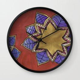 Zentangle Flower Loto (Pastel & Acrylic ) Wall Clock
