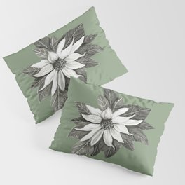 Florida Flower with Green Background Pillow Sham