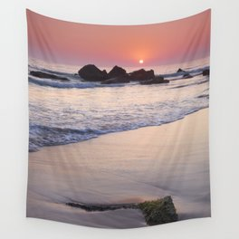 Encendida Beach At Sunset. Sancti Petri. Wall Tapestry