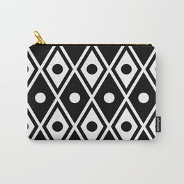 Harlequin Pattern Black & White Carry-All Pouch