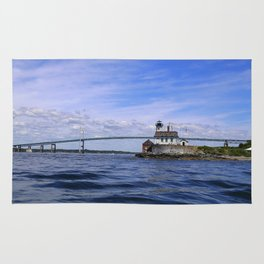 Rose Island and Newport Rode Island Bridge combo Rug