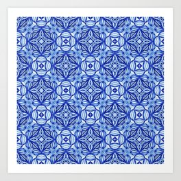 For the Love of Blue - Pattern 372 Art Print