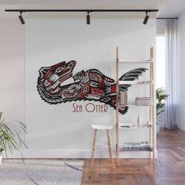 Haida Otter and Baby Wall Mural