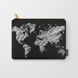 Invert scribble world map Carry-All Pouch