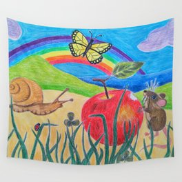 Little Garden Friends Snack Time Wall Tapestry