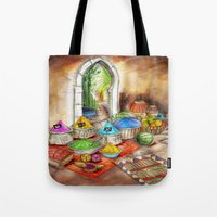 morocco Tote Bags featuring Morocco by Helene Michau