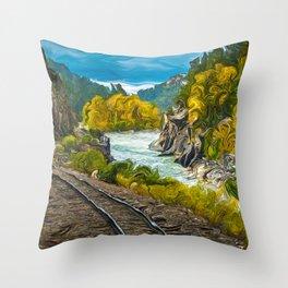 Durango Silverton Railroad Throw Pillow